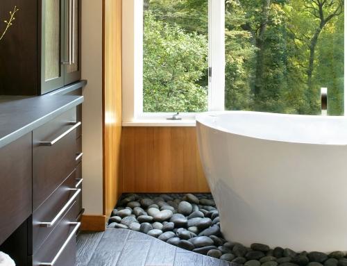 Cabuchon bath in triple award-winning bathroom design