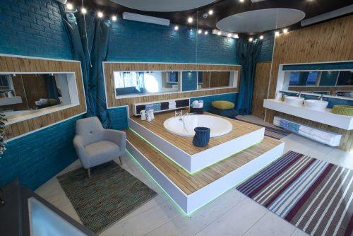Custom bath designer: we produced this large, circular bath for the 'Big Brother' studio setting.