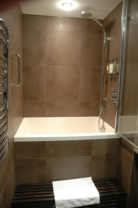 A Calyx deep soaking tub, installed at the Vincent Hotel, Southport