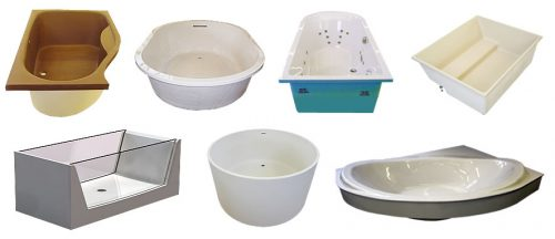 We offer clients an almost limitless choice of bath design options