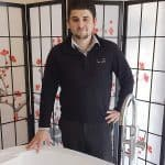 \Jordan Petts in the Cabuchon bath showroom