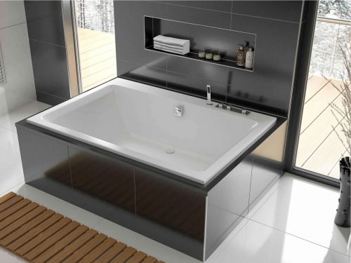 The Serenity Plus luxury bath, here pictured inset, with its rims visible